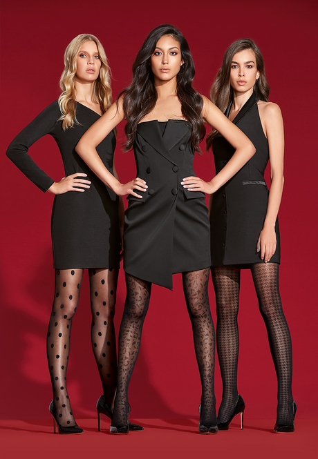 SF402 Tights with animalistic pattern, 40 den, black, size M